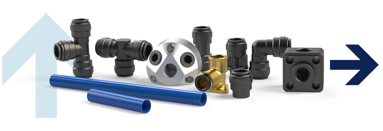 Aluminiumrohre, Luftverteilerdosen, Endstücke für Rohranschluss