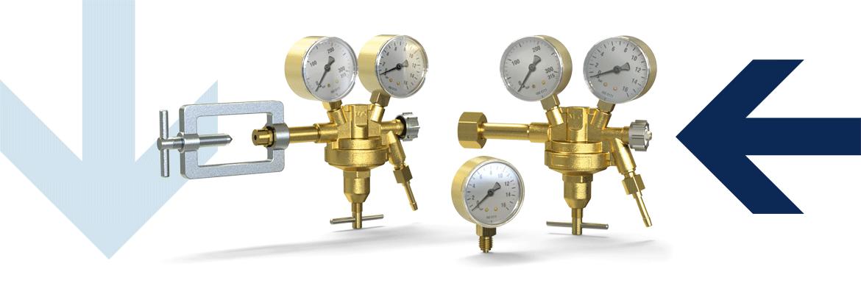 Flaschendruckregler mit Manometer